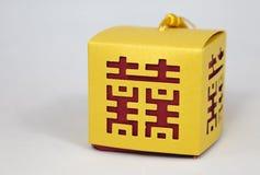 boxes kinesiskt lyckaförbindelsesymbol Arkivfoto