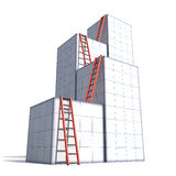 Boxes and ladders Royalty Free Stock Photos