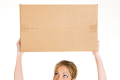 Boxes: Looking Up At Blank Cardboard Box Stock Photos