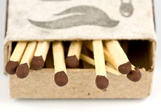 Boxes with matches Royalty Free Stock Images
