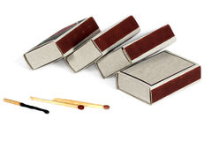 Boxes of matches () Royalty Free Stock Photos