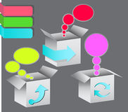 Boxes with messages Stock Images