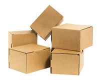 Boxes messed up Royalty Free Stock Photo