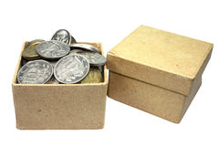 Boxes with money Stock Photography