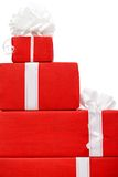 Boxes with new year's presents Stock Image