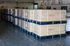 Boxes package ready for shipment at in warehouse Royalty Free Stock Image