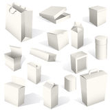 Boxes and packages Set Stock Photos