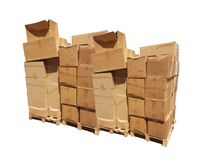 Boxes packs parcels pille isolated Royalty Free Stock Image