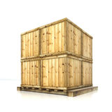 boxes on pallet Stock Image