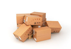Boxes on the pallet Royalty Free Stock Images