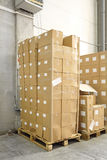 Boxes at Pallet Stock Photos