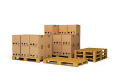 The boxes on the pallet Royalty Free Stock Photo