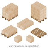 Boxes and pallets Royalty Free Stock Photos