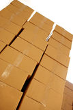 Boxes piles Royalty Free Stock Images