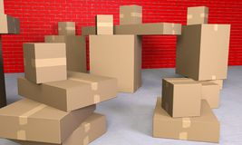 Boxes are piling up Stock Photography