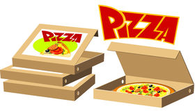 boxes pizza Arkivfoton
