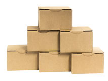 Boxes placed on white Royalty Free Stock Photo