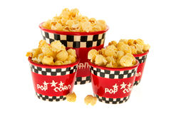 Boxes with popcorn Stock Image