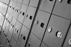 boxes post arkivfoton