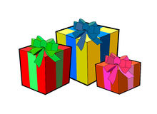 Boxes of presents royalty free illustration