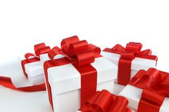 Boxes with presents Stock Photos