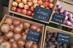 Boxes of produce Royalty Free Stock Photography