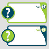 Boxes with question mark and arrow Royalty Free Stock Images