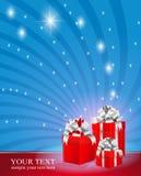 boxes röd bandsilver tre Fotografering för Bildbyråer