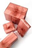 boxes röda gåvor Arkivbild