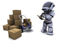 boxes robotsändnings royaltyfri illustrationer