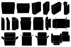 Boxes set isolated. On white Royalty Free Stock Photography