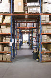 Boxes On Shelves In Warehouse Stock Photography