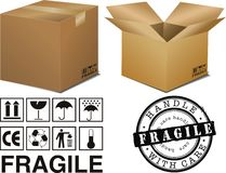 Boxes and signs Royalty Free Stock Photo