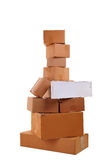 Boxes stacked on top of each other Royalty Free Stock Photography
