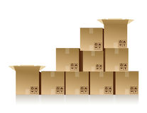 Boxes stacked up Royalty Free Stock Photography