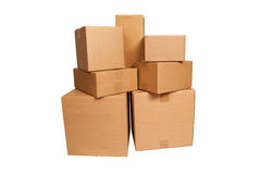 Boxes stacked Royalty Free Stock Image