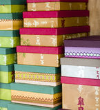 Boxes in stock Royalty Free Stock Image