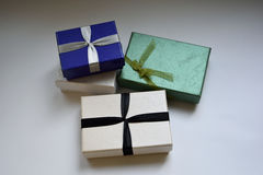 Boxes. Three different boxes for jewelry Royalty Free Stock Image