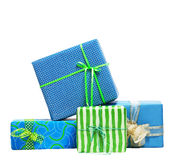 Boxes tied with a ribbon bow Royalty Free Stock Photography