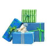 Boxes tied with a ribbon bow Stock Photo