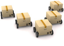 Boxes With Tires Stock Photo