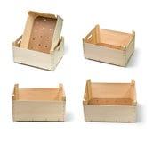boxes trä Fotografering för Bildbyråer