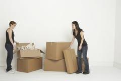 boxes unpacking Στοκ Εικόνες