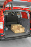 Boxes in Van Royalty Free Stock Photography
