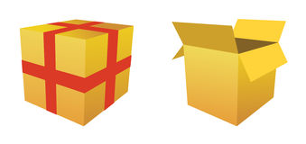 Boxes - vector image Stock Photography