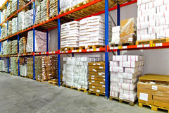 Boxes warehouse Stock Photography