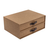 Boxes on a white background Royalty Free Stock Photo