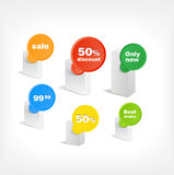 Boxes wirh the stickers Stock Photography