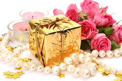 Boxes With Gifts And Roses Stock Image