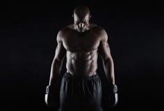 Boxeur africain professionnel Images stock